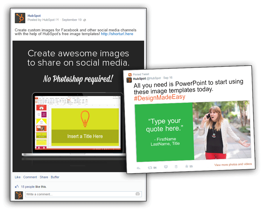 Free templates visual social media updates via hubspot free templates visual social media updates inbound marketing pronofoot35fo Gallery